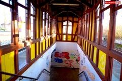 Dworzec kolejowy w Lwówku Śląskim graffiti na peronach 1