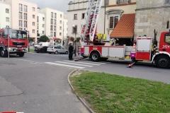 Działania strażaków w centrum Lwówka Śląskiego 1