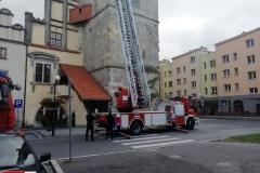 Działania strażaków w centrum Lwówka Śląskiego 3