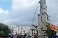 Działania strażaków w centrum Lwówka Śląskiego 4