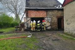 Groźny pożar w Rębiszowie 1
