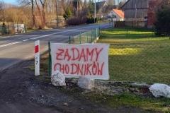 Blokada drogi krajowej 1