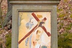 12 Kalwaria w Pławnej - Szymon Cyrenejczyk pomaga Jezusowi nieść krzyż