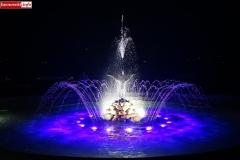 Lwówek Śląski fontanna z czaplą 2