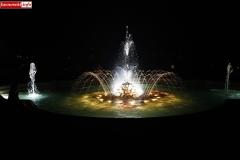 Lwówek Śląski fontanna z czaplą 3