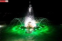 Lwówek Śląski fontanna z czaplą 4