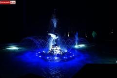 Lwówek Śląski fontanna z czaplą 5