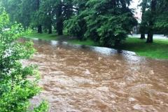 Mirsk wezbrane stany rzek podtopienia 16