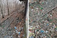 Stacja kolejowa w Mirsku wysypisko śmieci 5