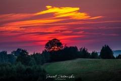 Gierczyn - zachód słońca fot Paweł Zatoński