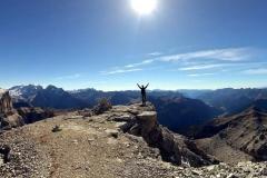 Na szczycie Piz Selva w Dolomitach.