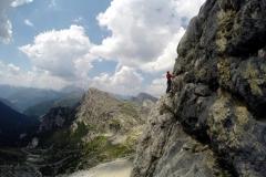 Na wspinaczce w Dolomitach włoskich