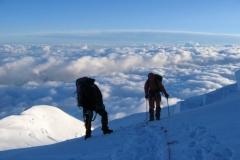 W drodze na Mont Blanc