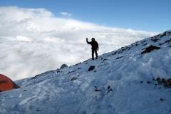 W obozie I w drodze na szczyt Muztagh Ata Shan 7546 mm npm w Pamirze chińskim