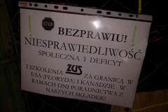 Lwówek Śląski Niemy protest przed ZUS 2