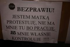 Lwówek Śląski Niemy protest przed ZUS 8