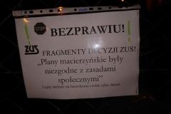 Lwówek Śląski Niemy protest przed ZUS 9