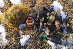 Włodziece Wielkie - śmieci  wyłowione 02.21