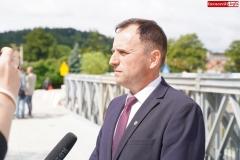 Otwarcie mostu zastępczego w Lwówku Śląśkim  (1)
