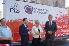 Lwówek Śląski Konferencja prasowa kandydatów PiS 1