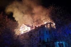 Czerniawa-Zdrój pożar budynku 1