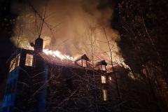 Czerniawa-Zdrój pożar budynku 3