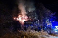 Czerniawa-Zdrój pożar budynku 4