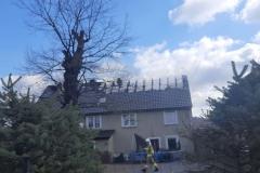Pożar budynku w Rębiszowie 1