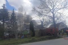 Pożar budynku w Rębiszowie 3