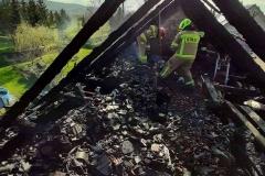 pożar w Rębiszowie
