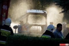Pożar ciągnika w Lubomierzu 2