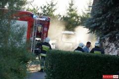 Pożar ciągnika w Lubomierzu 3