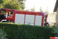 Pożar ciągnika w Lubomierzu 4