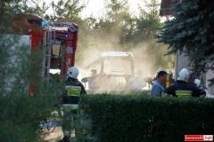 Pożar ciągnika w Lubomierzu 5