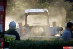 Pożar ciągnika w Lubomierzu 6