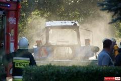 Pożar ciągnika w Lubomierzu 7