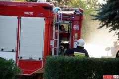 Pożar ciągnika w Lubomierzu 8