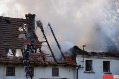 pożar domu w Kotliskach 13