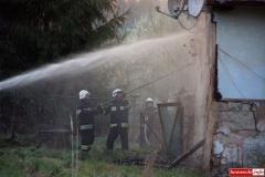 pożar domu w Kotliskach 14