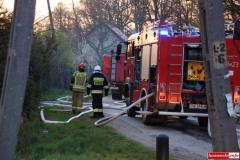 pożar domu w Kotliskach 17