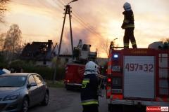 pożar domu w Kotliskach 18