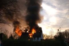 pożar domu w Kotliskach 2019