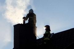 Lubomierz pożar komina 1