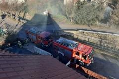 Lubomierz pożar komina 6
