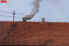 Pożar komina w Radomiłowicach 1