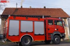 Pożar komina w Radomiłowicach 3