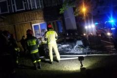 pożar samochodu 2