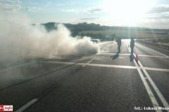 Pożar samochodu na DK30 1