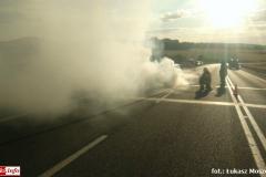 Pożar samochodu na DK30 2