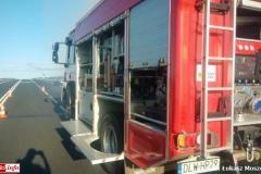 Pożar samochodu na DK30 3